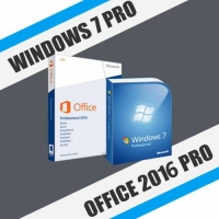 Windows 7 Pro + Office 2016 Pro