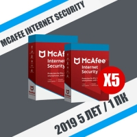 McAfee Internet Security 2019 - 5 лет / 1 ПК