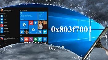 Ошибка 0x803f7001 при активации Виндовс 10