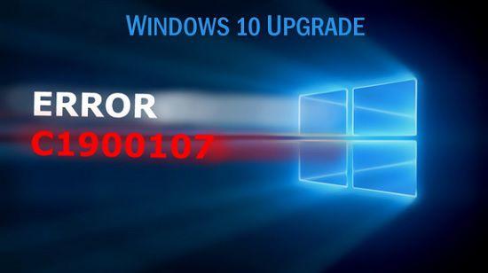 Ошибка c1900107 в Windows 10