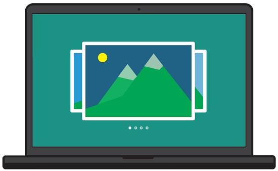 Режим слайд-шоу во время просмотра фото в Windows 10
