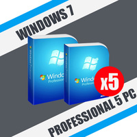 Windows 7 Professional 5пк