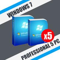 Windows 7 Professional 5пк