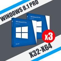 Windows 8.1 Professional (x32-x64) 3ПК