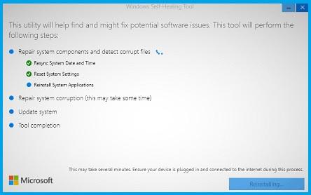 Windows Self-Healing - инструмент для устранения неполадок в Windows 10